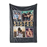 Personalized Photo Blanket for Sister, Collage Blanket, Sister Gift, Sister Gift for Birthday, Sister Gift Idea, Sister Gift from Brother, Sister Gift for Wedding, Sister Gift from Sister,Sherpa5060