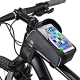 Waterproof Bike Frame Phone Holder with Storage for Commuting and Touring. Phone case for Cell Phone Below 6.5'. Will Suit iPhone X 8 7 6s 6 Plus 5s / Samsung Galaxy s8 s7