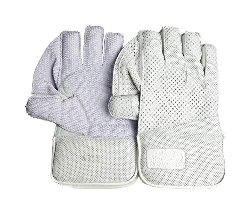 Newbery Cricket Unisex's SPS Wicket Keeping Gloves, White, XOS