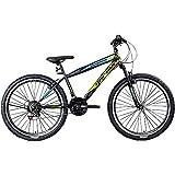 Jugendfahrrad 26 Zoll Mountainbike Fahrrad 26' Geroni Magnum Hardtai MTB Jugend (schwarz/grün/blau, 38 cm)