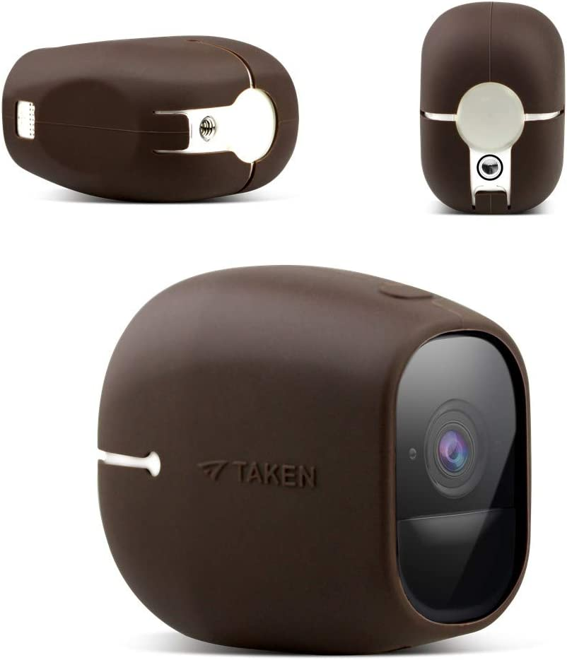 Arlo pro Skins, Arlo pro 2 Silicone Skins, Taken Silicone Skins Case Cover for Arlo pro & Arlo pro 2 Smart Security Wire-Free Cameras, 1 Pack, Brown