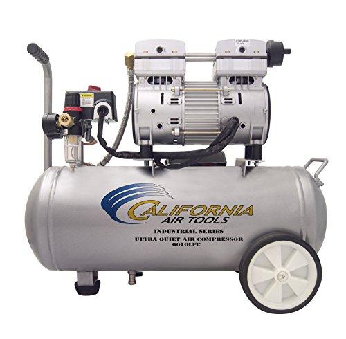 California Air Tools 6010LFC 1.0 HP Ultra Quiet and Oil-Free Industrial Air Compressor, 6.0-Gallon