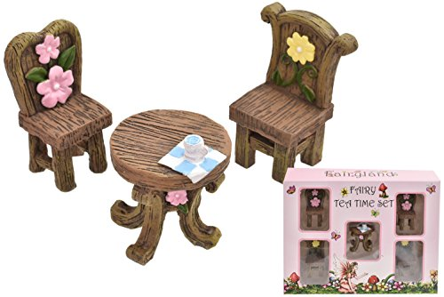 Toyland 5 Piece Fairyland Fairy Tea Time Set with Accessories - Dolls House Furniture