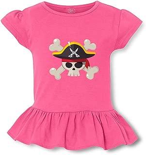 Pirate Short Sleeve Toddler Cotton Girly T-Shirt Tee