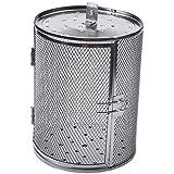 Facibom cesta de almacenamiento cacahuete granos de café horno asado a la parrilla jaula de cocina de acero barbacoa asador tambor 14x18cm
