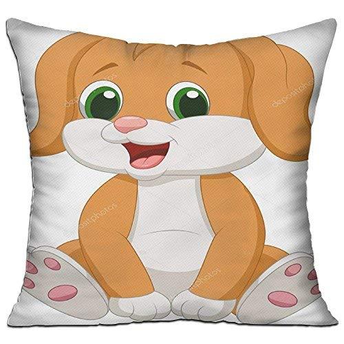 GFGKKGJFD27 Perro Clipart - Fundas de cojín de lona de 45 cm x 45 cm, para sofá, regalos para adolescentes y niñas, dormitorios