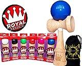 ROYAL Kendama (Pro BKA Competition Approved) japanische Fähigkeit Toy + Flames N Games Reisetasche. (Rosa)