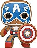Funko POP Marvel: Gingerbread Captain America,Multicolor,4 inches,50657