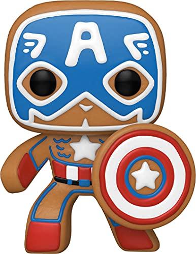 Funko POP Marvel: Holiday - Captain America S3 Figura da Collezione, Multicolore, 50657