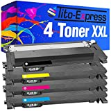Tito-Express PlatinumSerie 4 Toner XXL kompatibel mit Samsung CLT-P404C 404S | C430W C480W C480FN C480FW C482W SL-C430 SL-C430W SL-C480W SL-C480 SL-C480FW SL-C480FN SL-C483 SL-C483FW SL-C483W