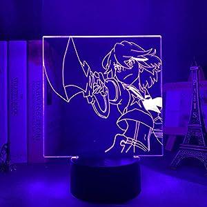 3D Night Light for Kids,Kill La Led Ryuko Matoi Lamp for Bedroom Decor Kill Ryuko Light Acrylic Lamp for Birthday/Xmas Gift