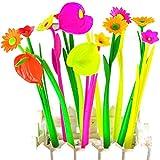 Tily - Juego de bolígrafos con forma de flor y tinta de gel, 0,38 mm, 10 unidades