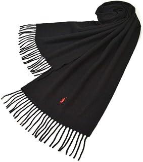 Ralph Lauren(ラルフローレン)マフラー メンズ/レディース ワンポイントウールマフラー(サイズ約167cm×約30cm)erl19w114 PC0476 Recycled WoolMuffler Black