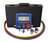 MASTERCOOL (99872-A Blue R134A Digital Manifold Gauge Set with 72' Hose and Manual Coupler