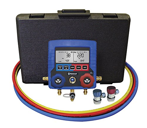"""MASTERCOOL (99872-A Blue R134A Digital Manifold Gauge Set with 72"""" Hose and Manual Coupler"""