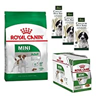 Nutritious Royal Canin Mini Adult 4kg Dry, 24 x 85g Pouches Wet Food And 3 Hunter Calcium Milk Bone ...