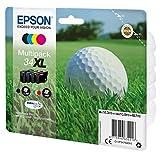 Epson Multipack 4 34XL DURABrite Ultra Ink, C13T34764010 (DURABrite Ultra Ink) válido para EPSON WorkForce Pro WF-3720DWF / WF-3725DWF, Ya disponible en Amazon Dash Replenishment