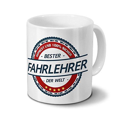 printplanet Tasse mit Beruf Fahrlehrer - Motiv Berufe - Kaffeebecher, Mug, Becher, Kaffeetasse - Farbe Weiß