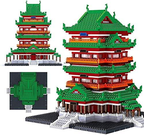 hsj Gebäude Set, Micro-Bausteine, BAU Lernspielzeug, Kinder und Erwachsene Exquisite Verarbeitung
