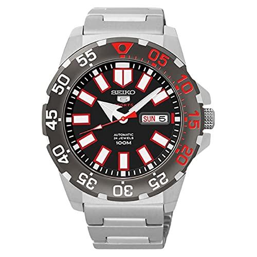Seiko SRP487 - Reloj de automático para Hombre, con Correa de Acero Inoxidable, Color Metalizado