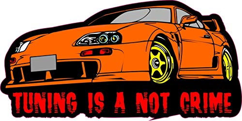 NetSpares 122702119  1 x Aufkleber Tuning is A Not Crime Sticker Motor Fun Gag Decal Pilot Ka-Boom XX