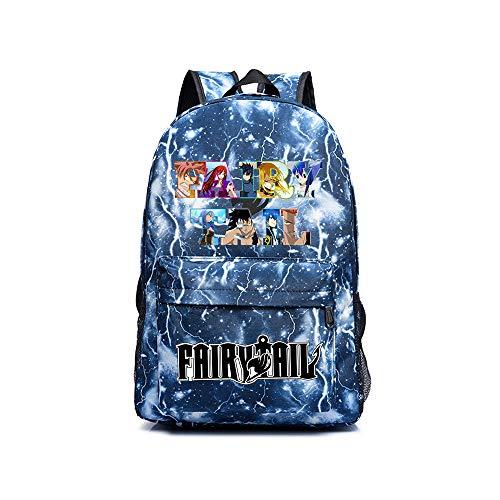 Fairy Tail Sacs à Dos Loisir Version coréenne Sac à Dos approuvé pour Le Sac à Main Sac à Dos décontracté Daypack School Bag pour Hommes Unisexe (Color : Blue07, Size : 30 X 14 X 45cm)