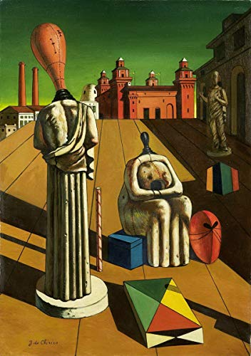 Berkin Arts Giorgio De Chirico Giclee Print On Paper-Famous Paintings Fine Art Poster-Reproduction Wall Decor(The Disturbing Muses) #XZZ