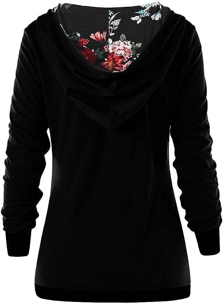 Haheyrte Hoodies for Women Long Sleeve Turtleneck Sweatshirt Asymmetrical Button Plaid Tunic Tops Pullover Womens Hoodies