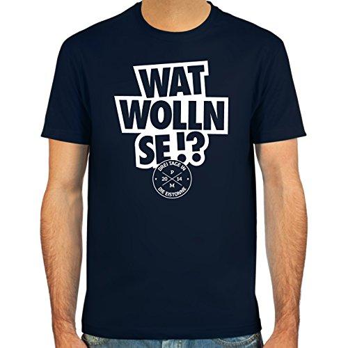 SpielRaum T-Shirt Per Mertesacker, Wat wolln se!? ::: Farbauswahl: SkyBlue, deepred, schwarz, Oliv oder Navy ::: Größen: S-XXL