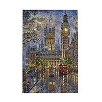 1000ピース ジグソーパズル ロンドン ビッグ・ベン ジグソーパズル 木製パズル Puzzles 50x75cm(6歳以上が適しています)