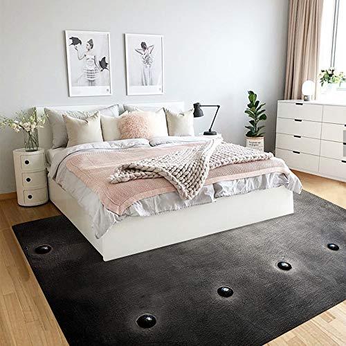 JOLIEAN vloermat, niet-slip tapijt mat, zwart en wit tijger, vloerkleed mat, nachtkleden, vloermatten, woonkamer tapijt, 2.9'×3.9'