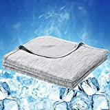 LUXEAR Cooling Blanket, Arc-Chill Pro Double-Side Cool Blanket with Japanese Q-Max 0.4 Cooling Fiber, 100% Cotton [Oeko-TEX Certified], Absorbs Heat to Keep Adults, Children, Babies Cool on Summer