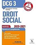 DCG 3 Droit social - Manuel - 2020-2021 - Réforme Expertise comptable (2020-2021)