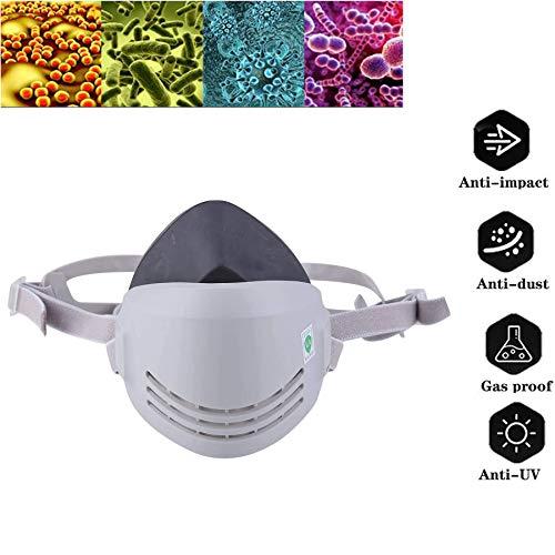 Masker met gasmasker Beschermingsniveau met dubbel filter Halfmasker met patroon om de ogen te beschermen tegen stof, gasmasker, stofmasker, chemisch masker