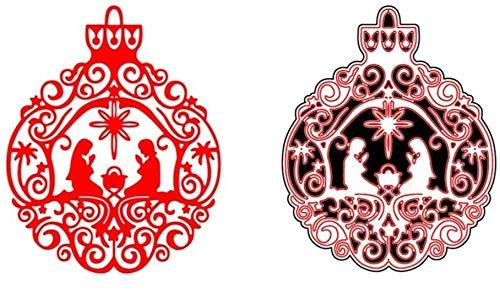 Nativity Ornament Metal Cutting Dies,DIY Scrapbooking Steel Craft Die Cut Paper Card Stencil