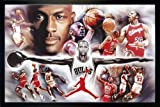 Close Up Michael Jordan Poster Collage (96,5x66 cm) gerahmt