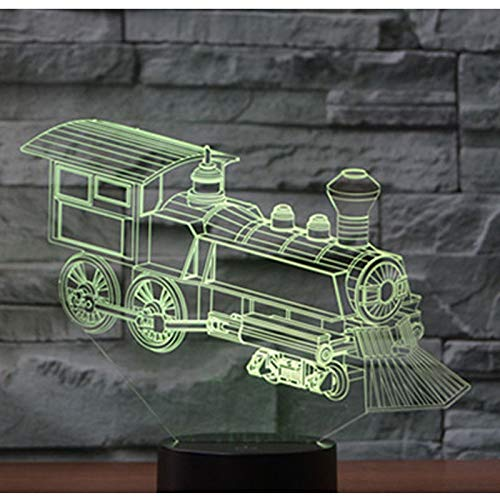 GBBCD Luce notturna 3D Led Night Light Train Locomotive Loco With 7 Colors Light For Home Decoration Lamp Amazing Visualization Optical Illusion