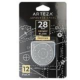 ARTEZA Cuchillas de Cutter Circular para Corte de Tela | Pack de 12 Hojas de Cuchilla Redonda de 28mm