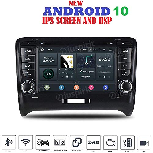 ANDROID 9.0 GPS DVD USB SD WI-FI Bluetooth autoradio 2 DIN navigatore Compatibile Con Audi TT 2006, 2007, 2008, 2009, 2010, 2011, 2012