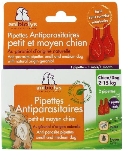 Anibiolys Préventif Pipettes Antiparasitaires Chien 2 à 15 kg 2 Unités