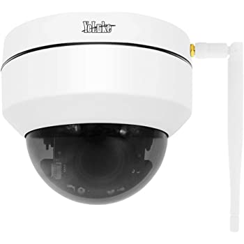 WiFi PTZ HD 5MP Wireless Waterproof Security Surveillance IP Dome Camera with 4X Optical Zoom IR Night Vision,Support Motion Detection ONVIF Protocol and SD Card Slot