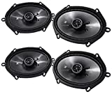"Kicker CS Series 6"" x 8"" Coaxial EVC 2 Way 450 Watt Speakers"