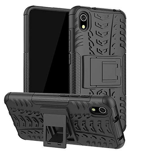 Capa Capinha Anti Impacto Para Xiaomi Redmi 7a Tela 5.45Case Armadura Hybrid Reforçada Com Desenho De Pneu - Danet (Preta)
