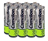Camelion AA Size NiCd Nickel Cadmium 1.2V 1000 mAh Rechargeable Battery for Solar Garden Lights (8 Pack)