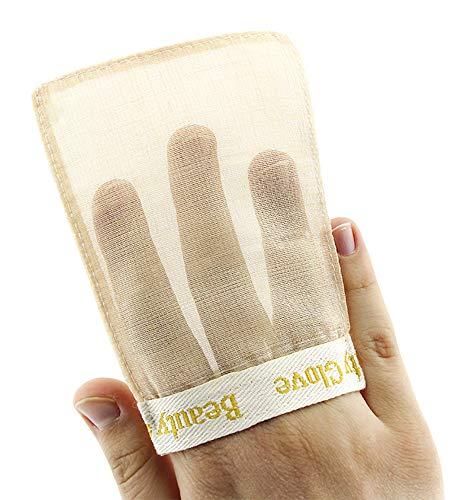 Beauty Glove from TURKEY, Anti Aging Exfoliating Peeling 100% Silk Body & Face Mitt (Face)