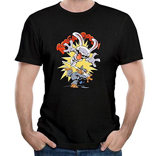 BOguan Mens T-Shirts Samseven and Seven Max Freelance Short Sleeve Tees Large Black