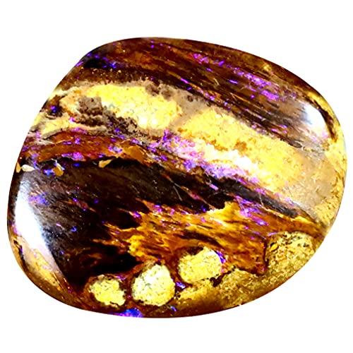 ボルダーオパール ルースストーン 10.33 ct Fancy Shape (20 x 16 mm) Multi Color Australian Koroit Boulder Opal Natural Loose Gemstone