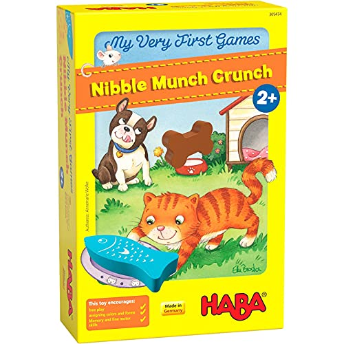 HABA 305474 My Very First Games – Nibble Munch Crunch, Ages 2 + (Made in Germany)