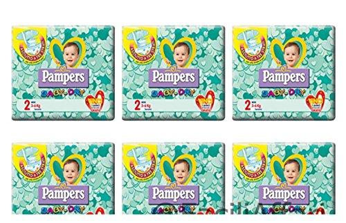 144 Pannolini Neonato Taglia 2 Pampers Baby Dry Pannolino Misura Mini BabyDry