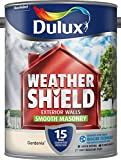 Dulux Weather Shield Smooth Masonry Paint, 5 L - Gardenia